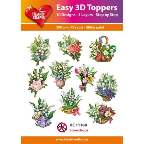Hearty Crafts Easy 3D Toppers - Snowdrops