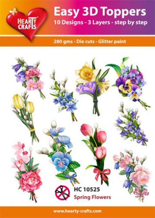Hearty Crafts Easy 3D Toppers - Spring Flowers 1