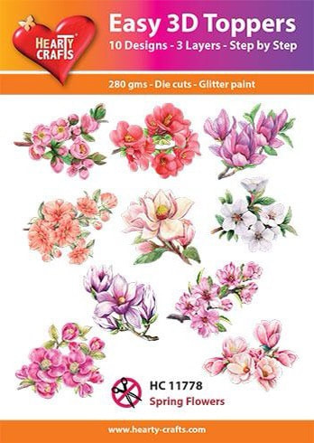 Hearty Crafts Easy 3D Toppers - Spring Flowers 2