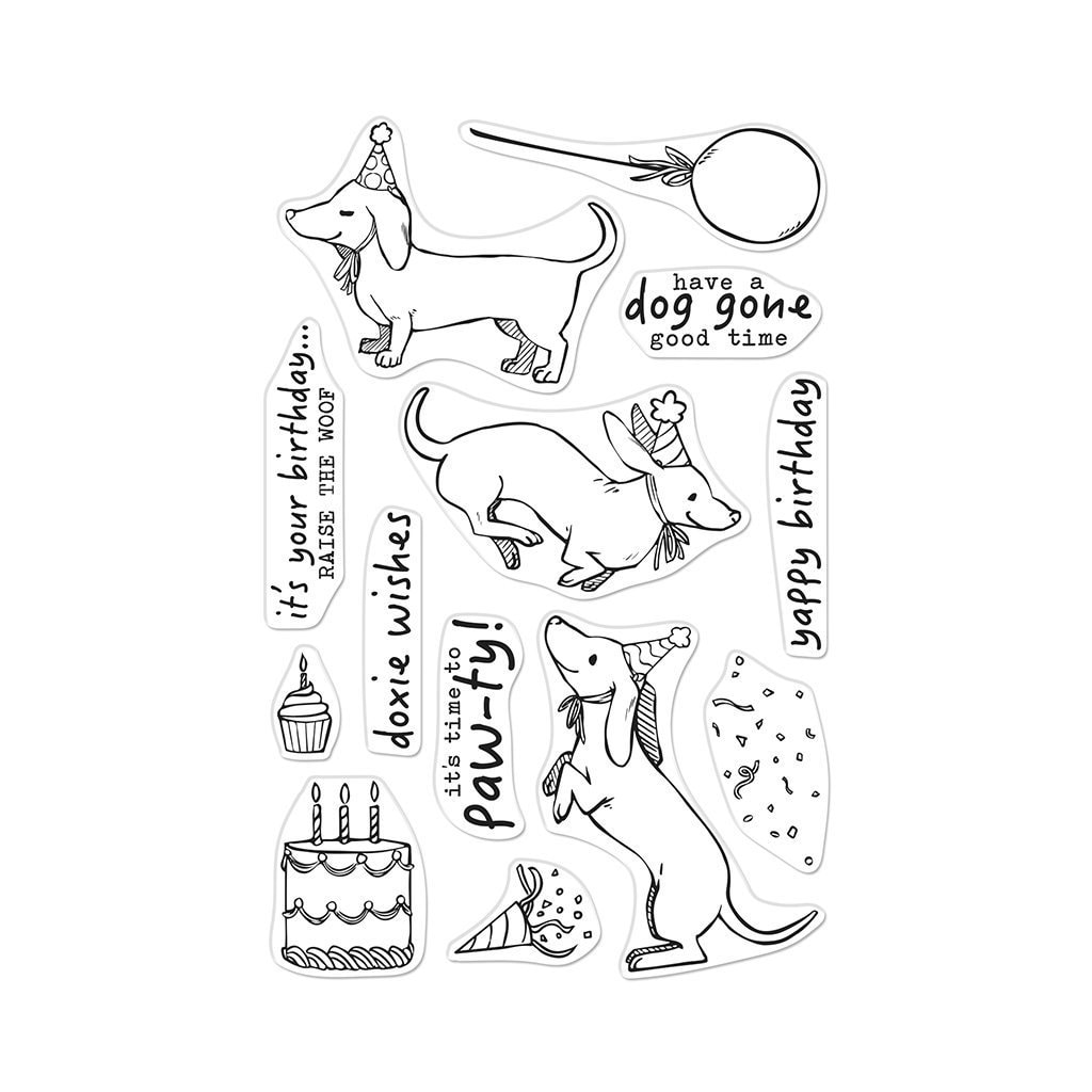 Hero Arts - Birthday Paw-ty Stamp Set