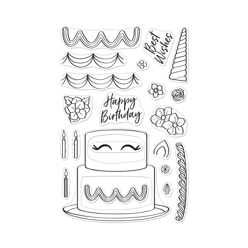 Hero Arts - Decorate A Cake Stamp Set