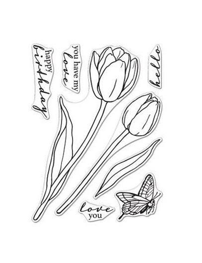 Hero Arts - Hero Floral Tulips Stamp Set