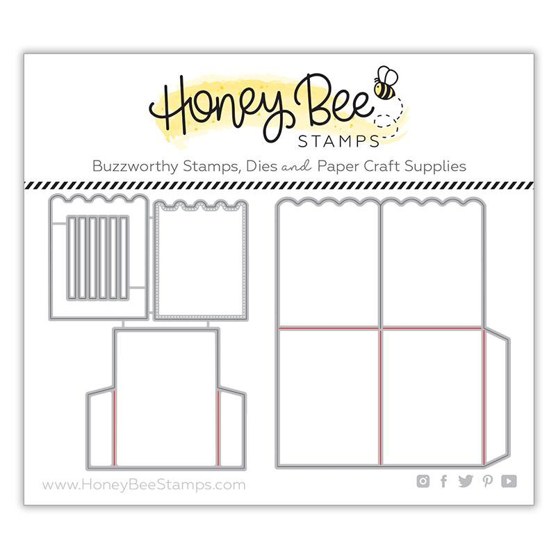 Honey Bee Stamps - A2 Surprise Box Card Base Honey Cuts