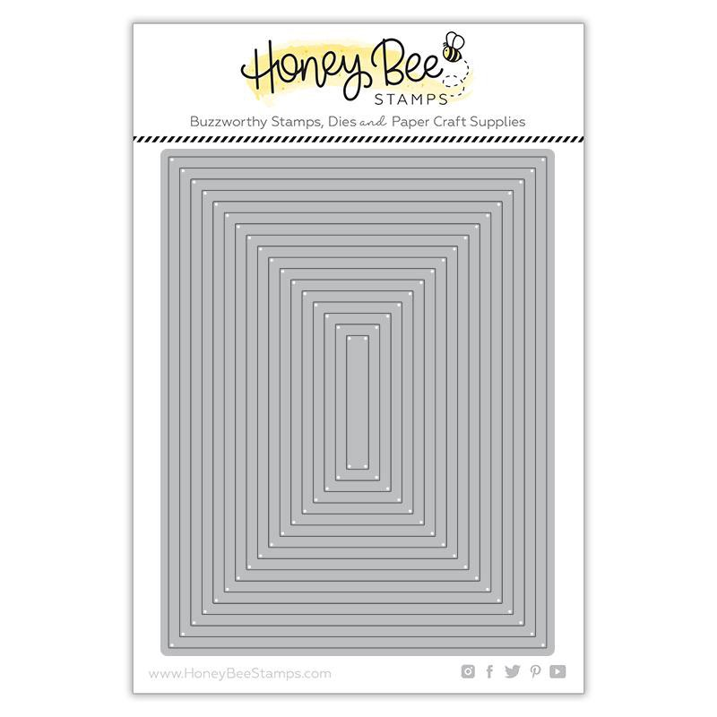 Honey Bee Stamps - A2 Thin Frames Honey Cuts