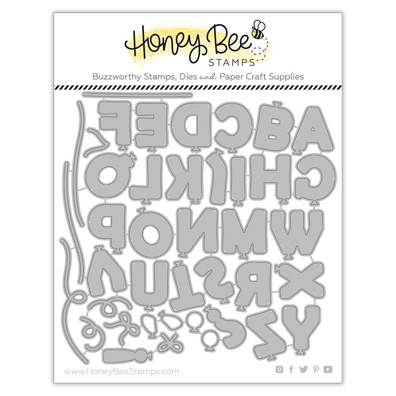Honey Bee Stamps - Balloon Alphabet Honey Cuts