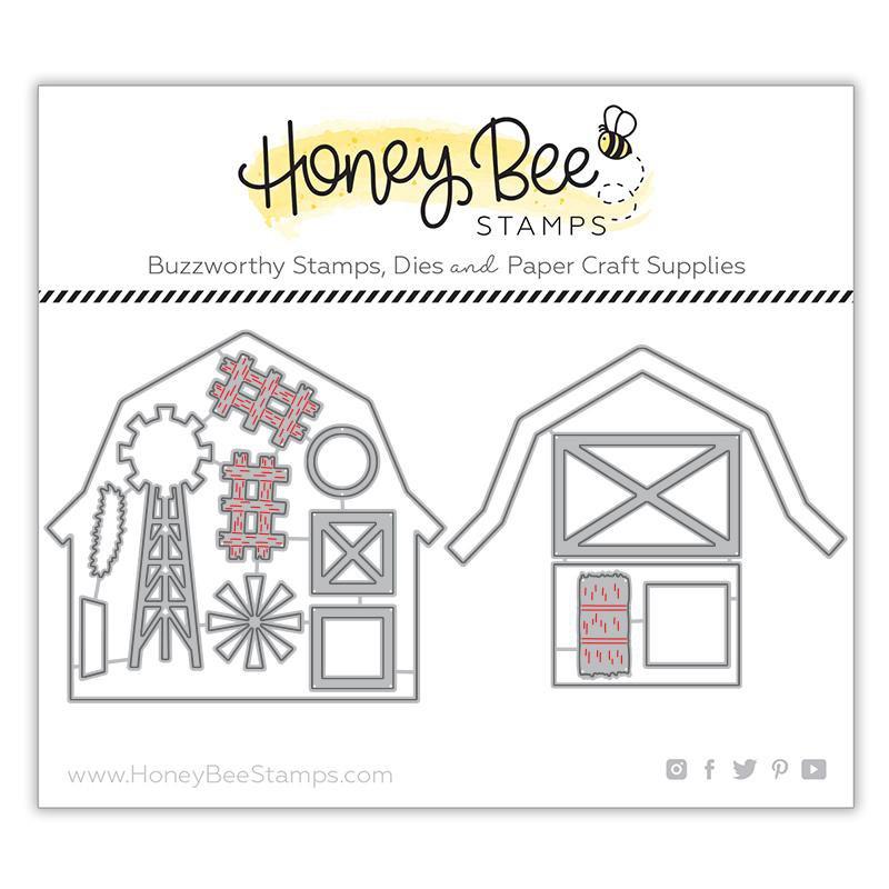 Honey Bee Stamps - Barn Scene Builder Honey Cuts
