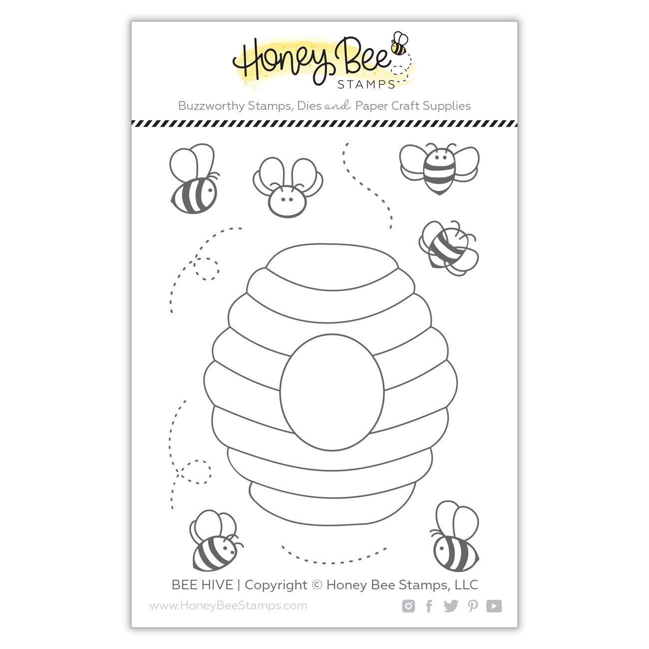 Honey Bee Stamps - Bee Hive 3x4 Stamp Set