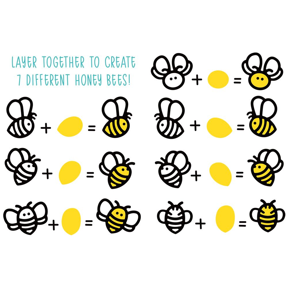 Honey Bee Stamps - Honey Bees Paper Piecing Die