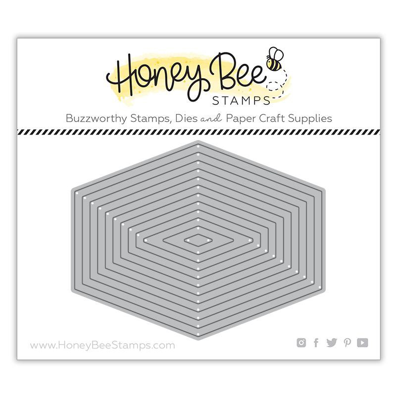 Honey Bee Stamps - Polygon Thin Frames Honey Cuts