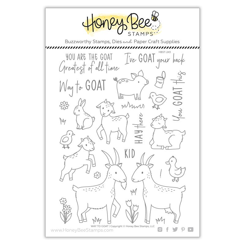Honey Bee Stamps - Way to Goat Stamp Set