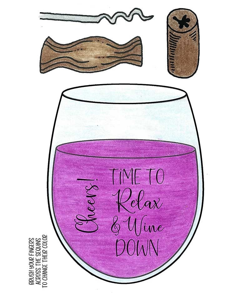 Inky Antics - Relax & Wine Down Stamp Set
