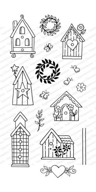 IO - Birdhouses Stamp Set