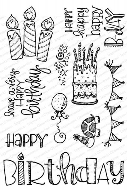 IO - Happy Birthday Stamp Set
