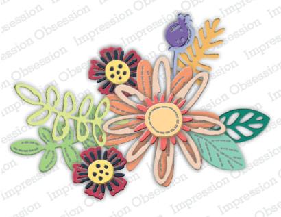 IO - Stitched Flower Bouquet Die