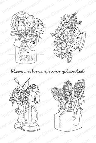 IO - Vintage Planters Stamp Set