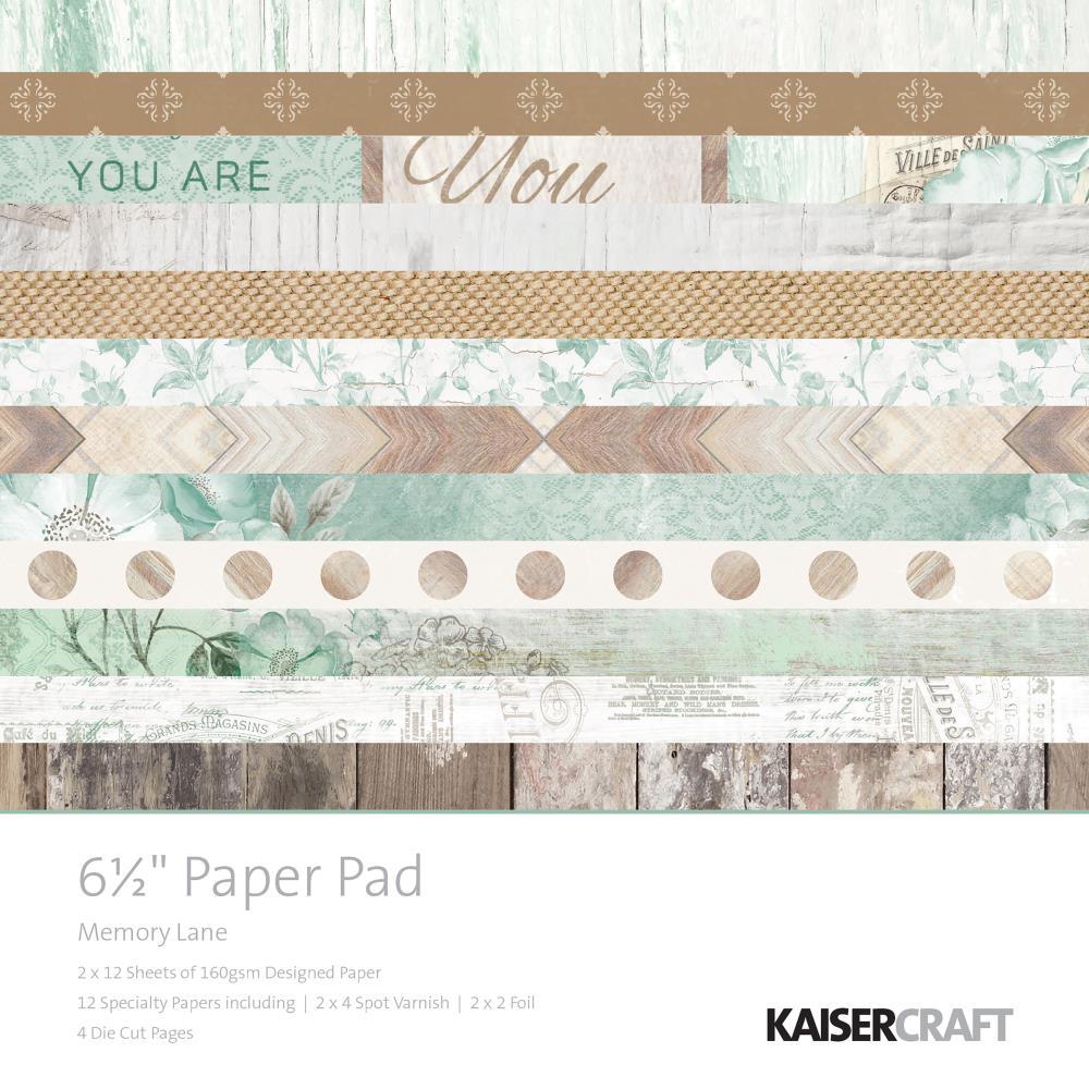 Kaisercraft - Memory Lane Paper Pad (6.5x6.5)