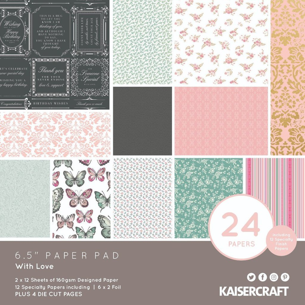 KaiserCraft - With Love Paper Pad (6.5x6.5)