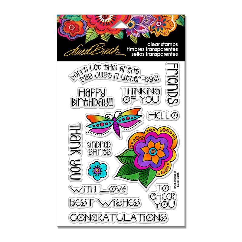 Laurel Burch - Floral Greetings Stamp Set