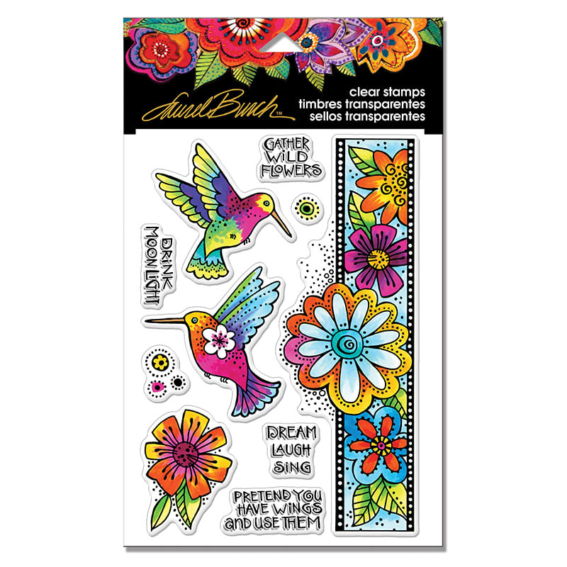 Laurel Burch - Hummingbird Wishes Stamp Set