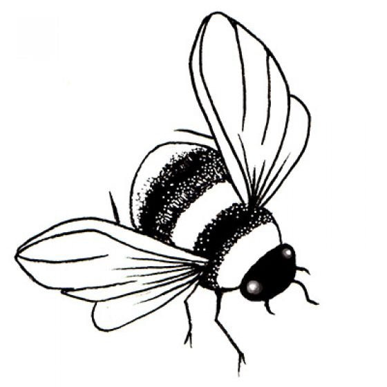 Lavinia Stamps - Bee Miniature Stamp