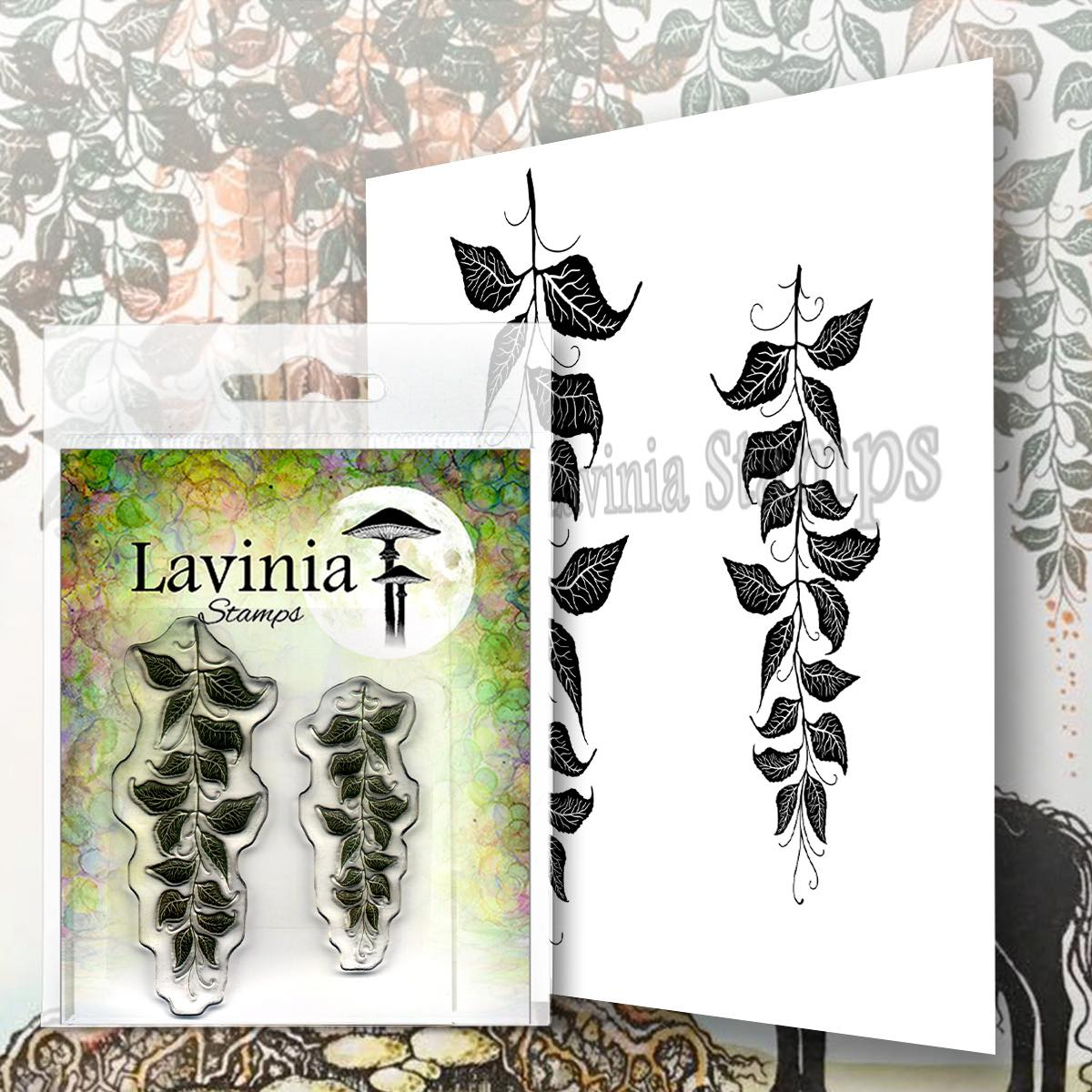 Lavinia Stamps - Berry Leaves Stamp
