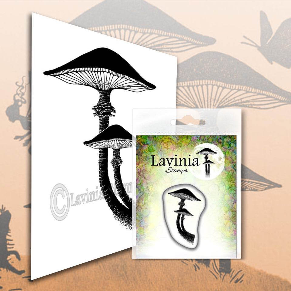 Lavinia Stamps - Forest Mushroom (miniature) Stamp