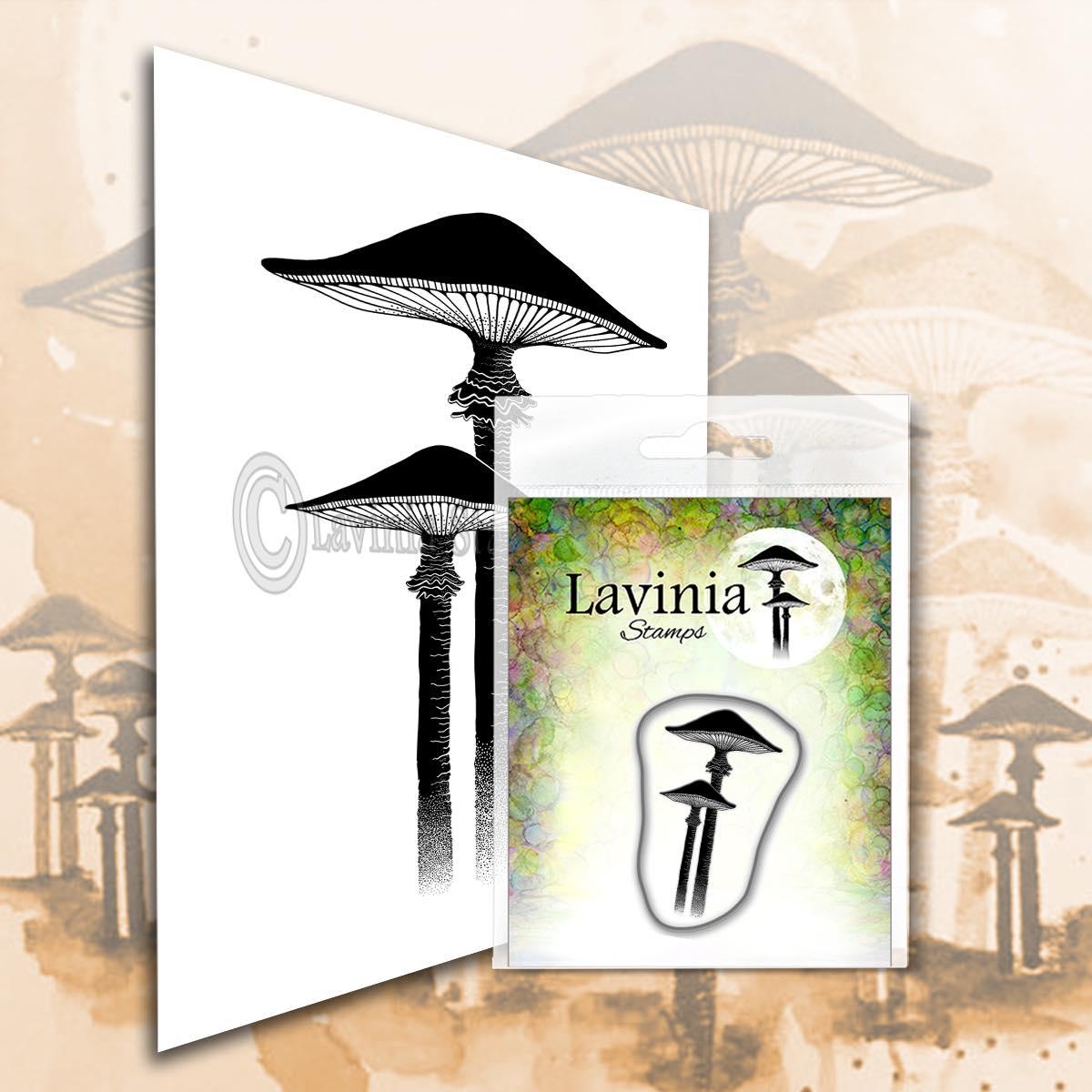 Lavinia Stamps - Meadow Mushroom (miniature) Stamp