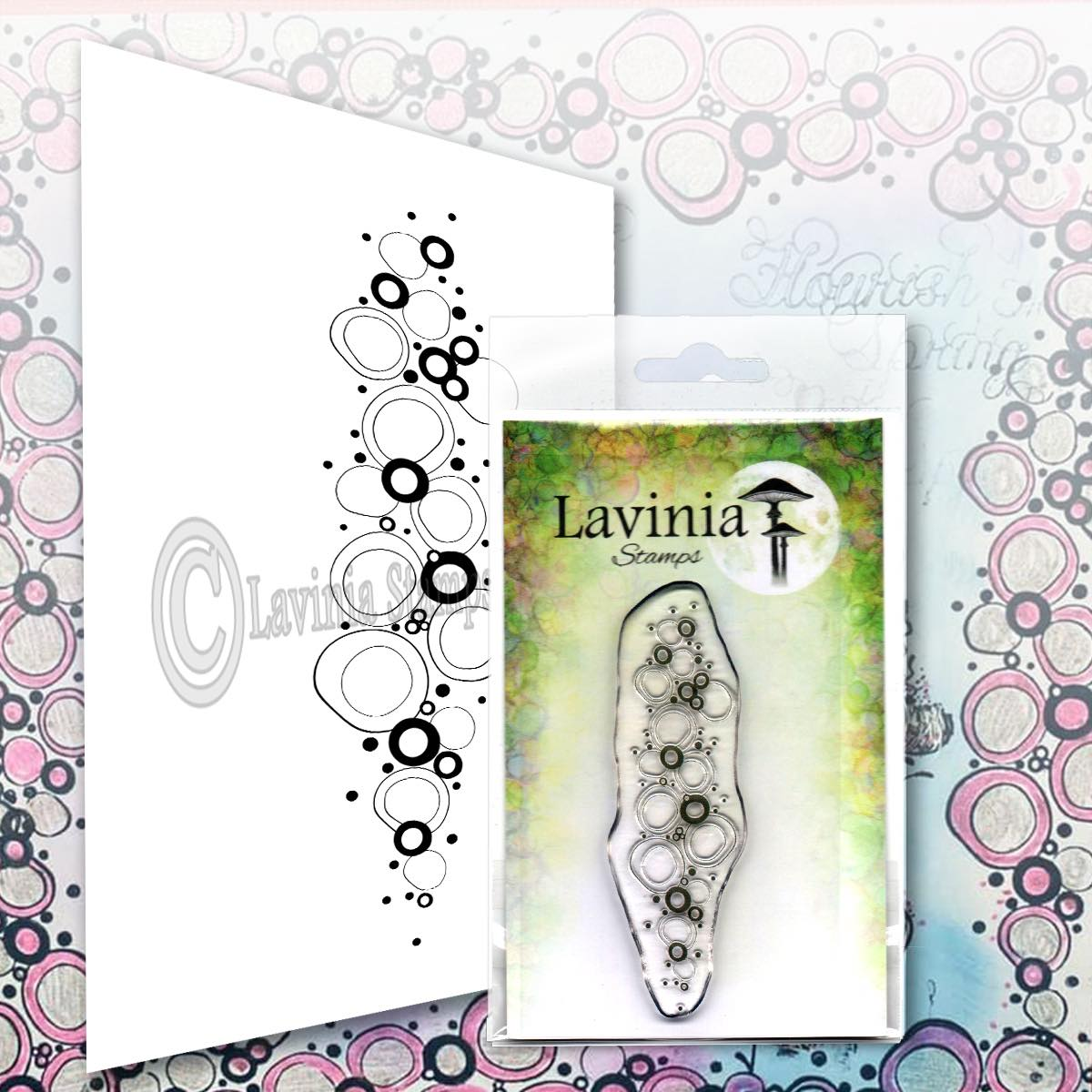 Lavinia Stamps - Pink Orbs Stamp
