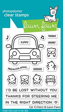 Lawn Fawn - Car Critters Stamp Set