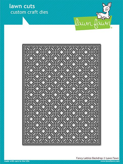 Lawn Fawn - Fancy Lattice Backdrop Die
