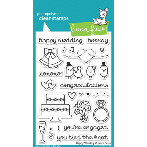Lawn Fawn - Happy Wedding Stamp Set