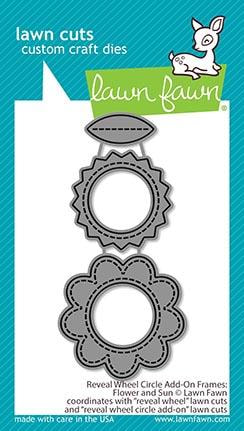 Lawn Fawn - Reveal Wheel Circle Add-On Frames: Flower and Sun Die