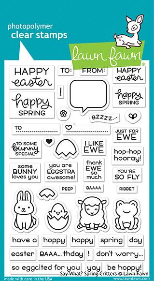 Lawn Fawn - Say What? Spring Critters Stamp Set