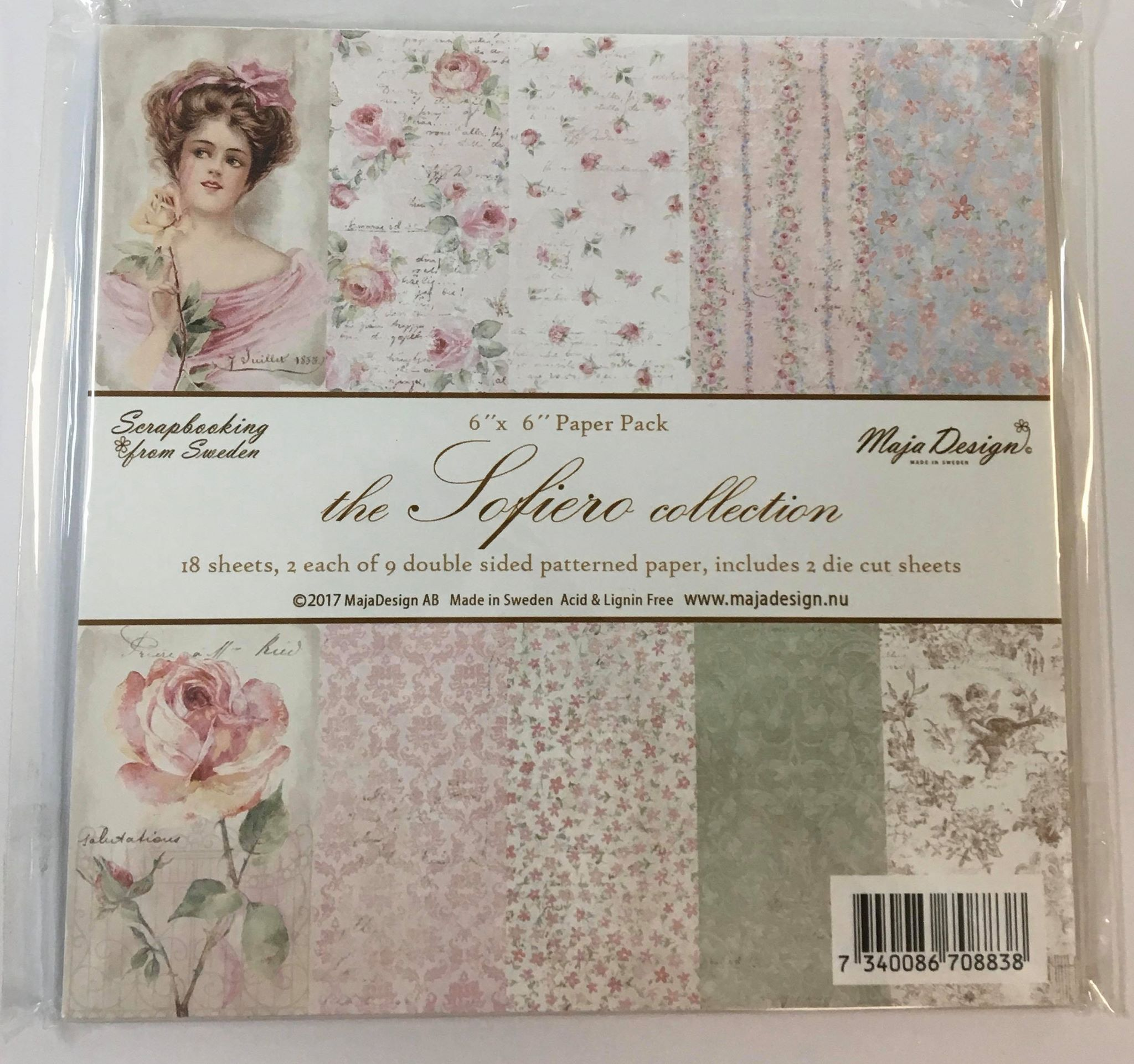 Maja Design - The Sofiero Collection 6x6 Paper Pack