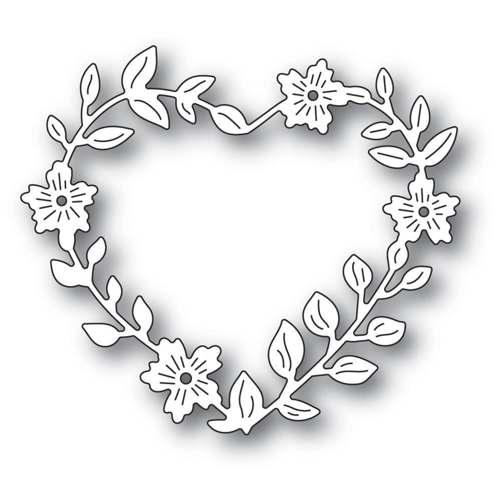 Memory Box - Blooming Heart Wreath Die