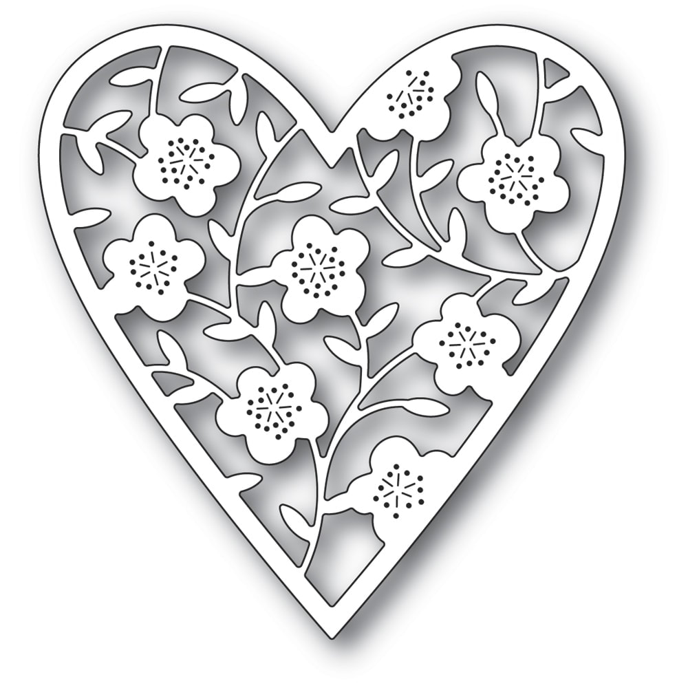 Memory Box - Floral Bouquet Heart Die