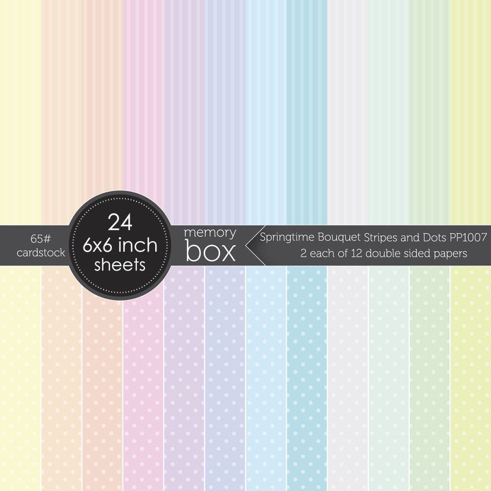 Memory Box Springtime Bouquet Stripes and Dots 6x6 pack