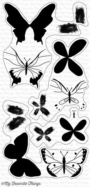 MFT - Beautiful Butterflies Stamp Set