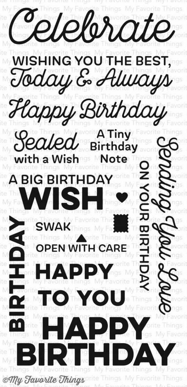 MFT - Big Birthday Wishes Stamp Set