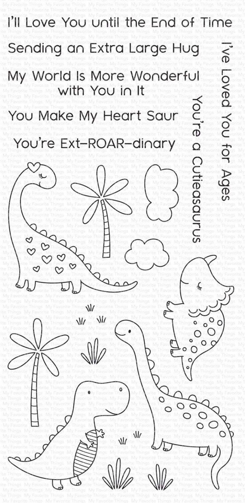 MFT - Cutiesaurus Stamp and Die Combo Set
