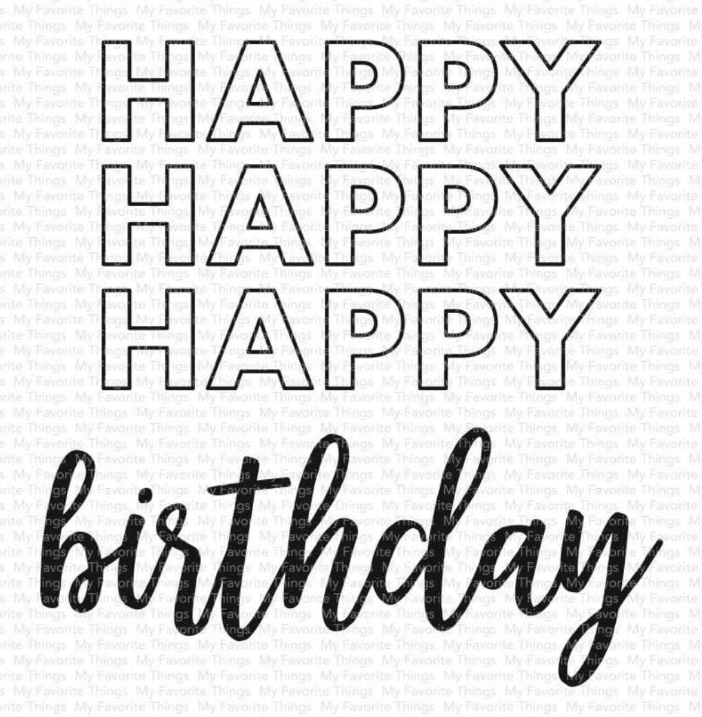 MFT - Happy Happy Happy Birthday Stamp Set