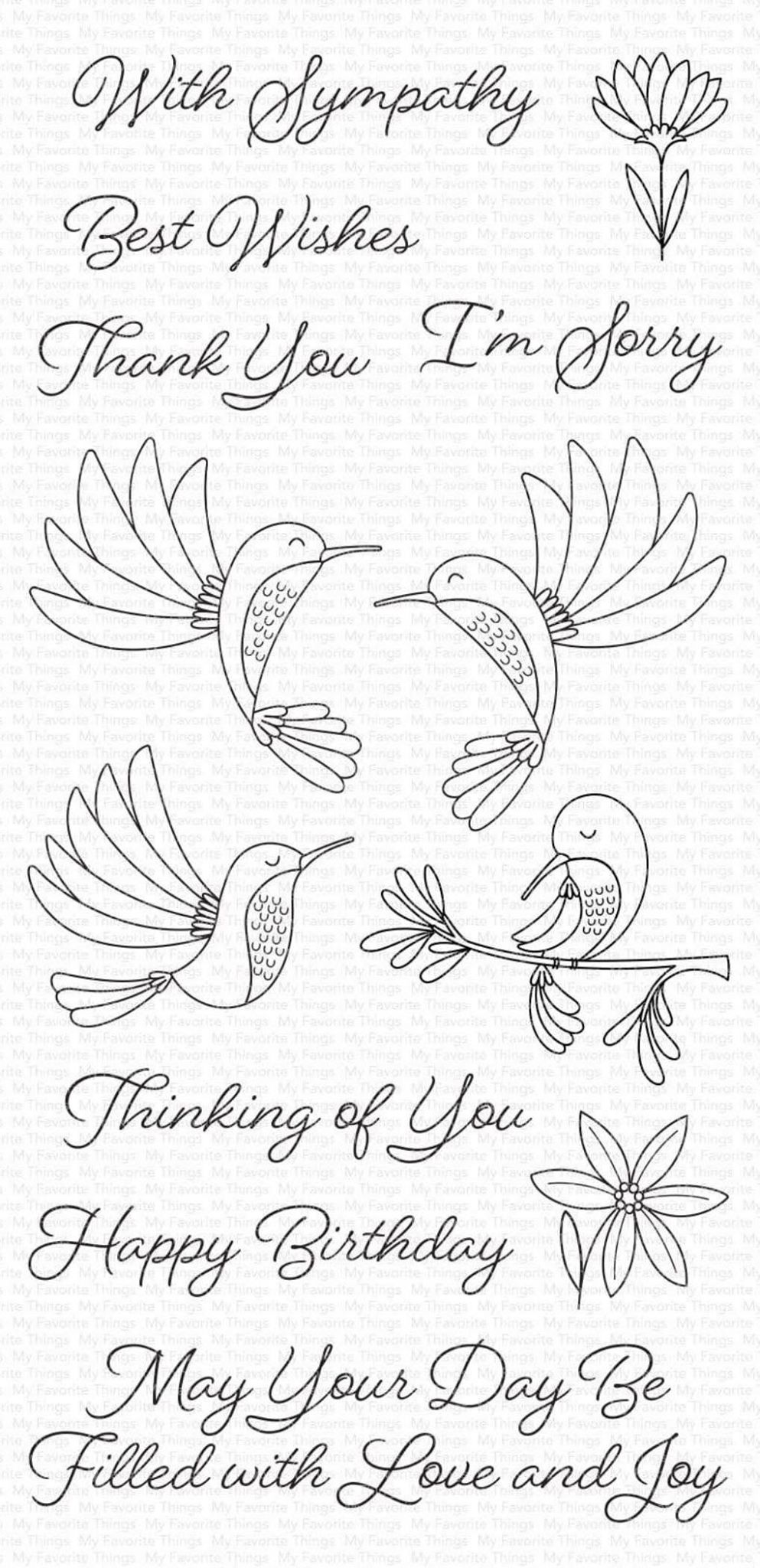 MFT - Happy Hummingbirds Stamp Set