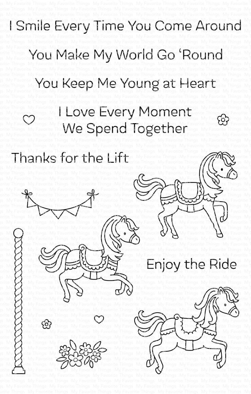 MFT - Carousel Horses Stamp & Die Combo Set