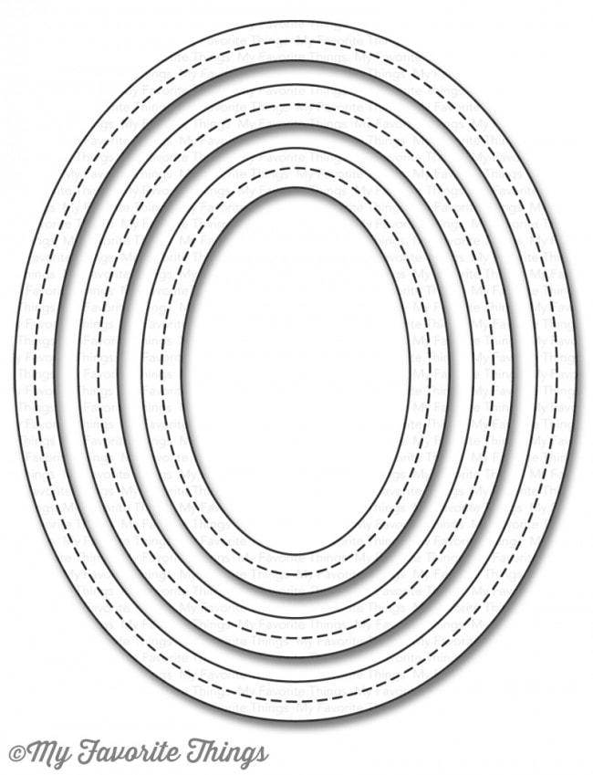 MFT - Single Stitched Line Oval Frames Die