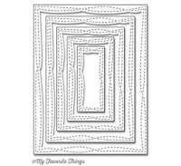 MFT - Single Stitched Line Rectangle Frames Set