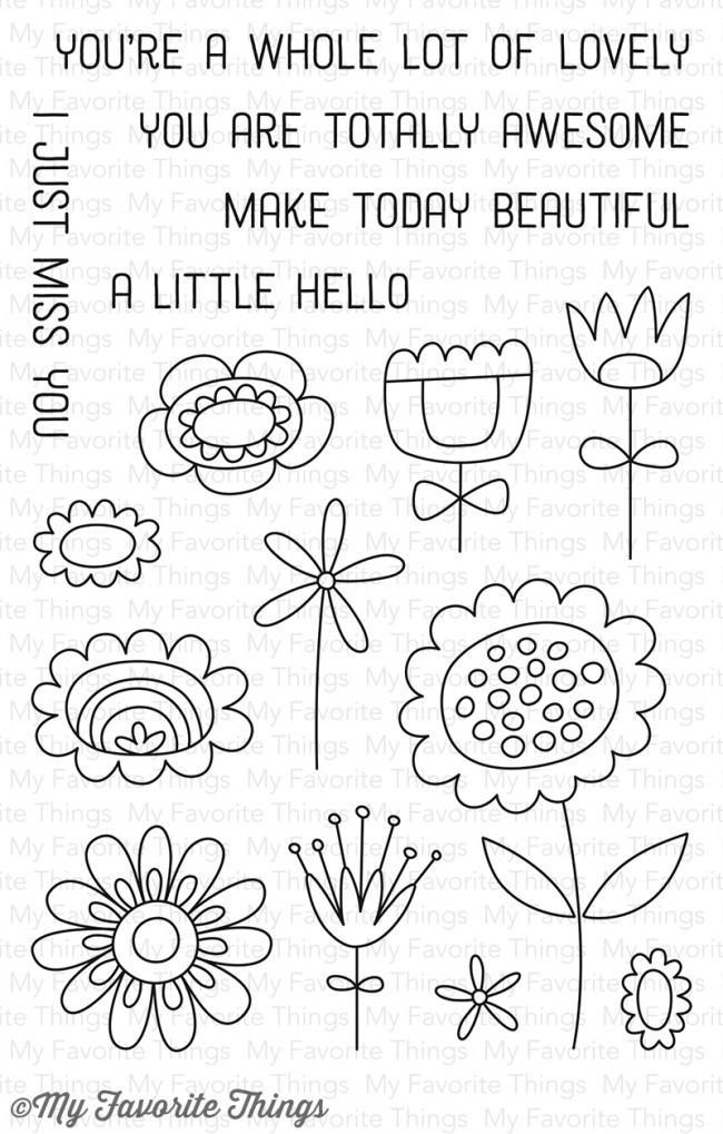 MFT - Springtime Blooms Stamp/Die Set