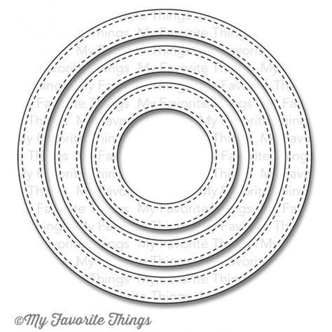 MFT - Stitched Circle Frames Dies