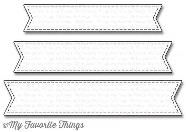MFT - Stitched Fishtail Sentiment Strips Die Set