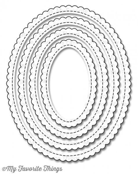 MFT - Stitched Mini Scallop Oval STAX Die