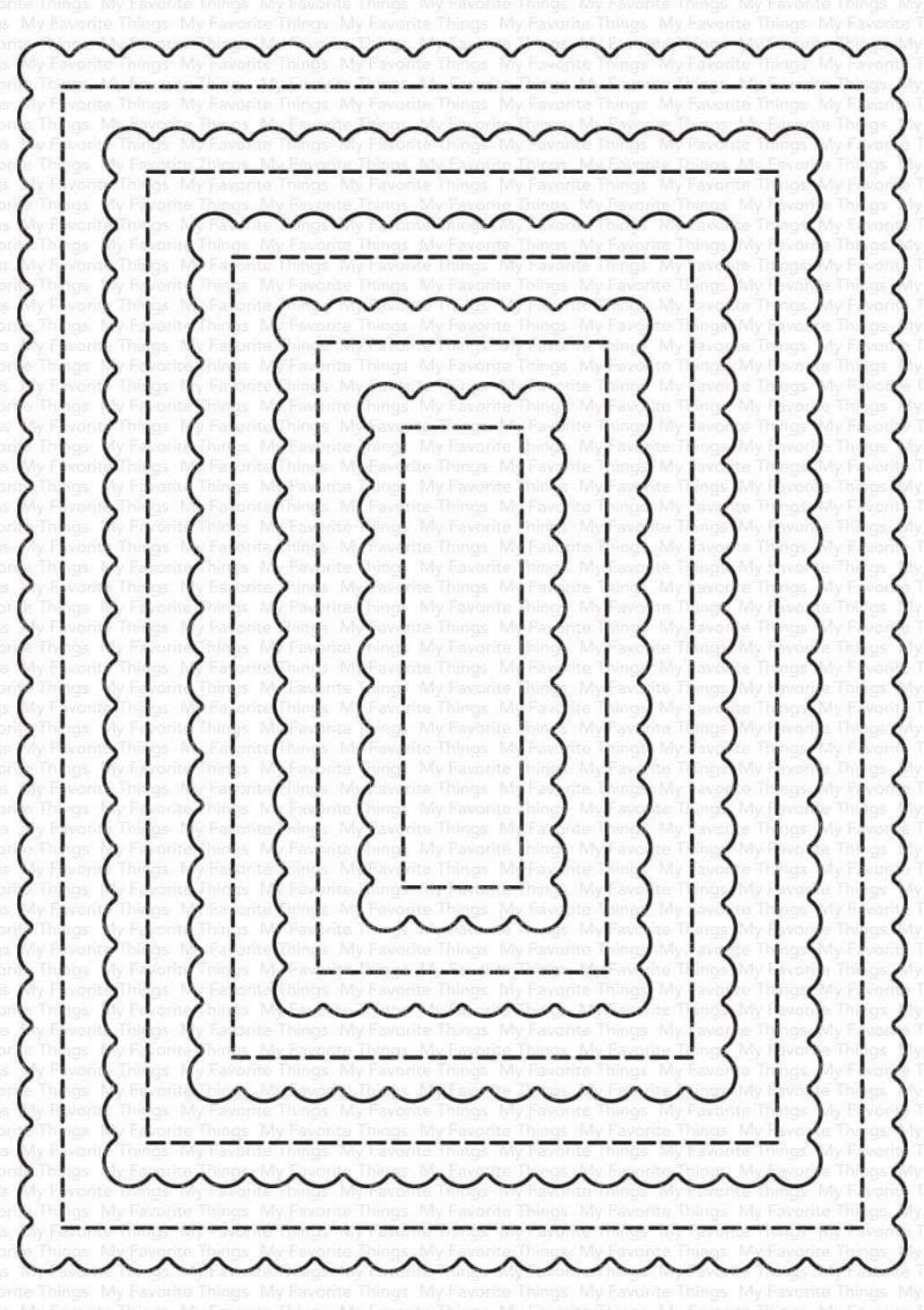 MFT - Stitched Mini Scallop Rectangle STAX Die